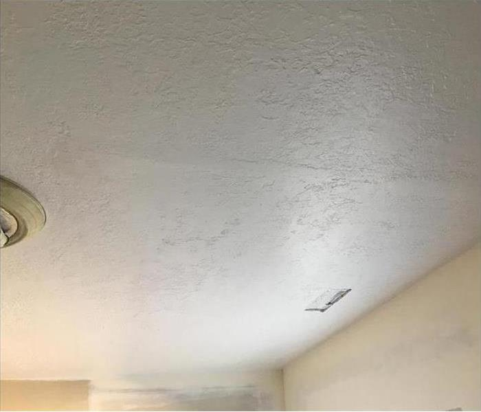 New ceiling after ice dam damage
