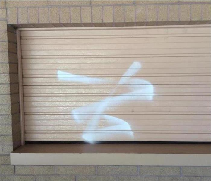 Vandalised building in West Valley
