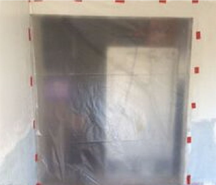 Plastic Sheeting used to Contain Mold